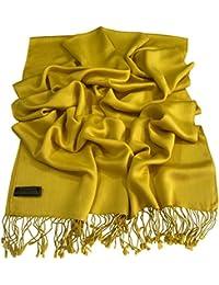 CJ Apparel Solido Colore Disegno Nepalese Scialle di Pashmina Sciarpa Della  Stola Dell involucro di da9ba85cb37