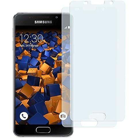 2 x mumbi Displayschutzfolie Samsung Galaxy A3 (2016) Schutzfolie - bewusst kleiner als das Display, da dieses gewölbt ist (nicht für Galaxy A3 2015)