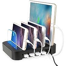 nexgadget extraíbles Multi Puerto de carga USB de Base de carga universal Dock, estación de acoplamiento, Cargador (4puertos de carga USB)