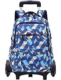e97da3e8c3 Daytwork Bagages Sacs à Dos Enfant - Trolley Bag Mode Lumière Détachable  Six Roues Roulant avec Scolaire roulettes Cartable Cabine Loisir…