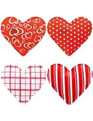 Juego de 4calentadores en forma de corazón, corazón, calentador de dedos, las manos en invierno