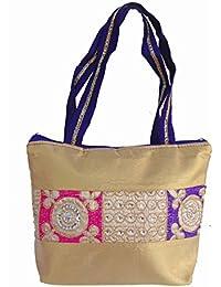 Ladies Fancy Purse Multi Canvas Tote Bag By ALIVE