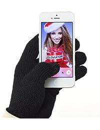 Gloviator® Guantes Táctiles para Smartphones y Tablets   Unisex   Color Negro   Suaves y Elásticos   Lavables