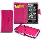 (Hot Pink) Nokia N8 Super dünne Kunstleder Saugnapf Wallet Case Hülle mit Credit / Debit Card SlotsBy Spyrox