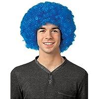 Partito parrucca da Blu Royal Supporter–St Andrews Scozia Saltire Scozzese, Colori Supporter–Parrucca Afro da alta qualità UNI-SEX parrucca, taglia unica