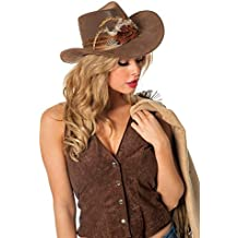 Cowboyweste braun für Damen