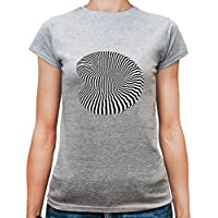 T-shirt da donna con Zebra Barcode Stripes Ornaments Illustration stampa.