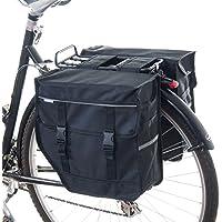 Beluko® M doble alforja para bicicleta, bolso para compras, negro