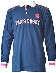 Stade Français Paris Sfp-ZA-3431 M M Polo Rugby, Marine, FR : M (Taille Fabricant : M)