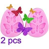 Romote 2x mariposa molde de silicona en forma de,