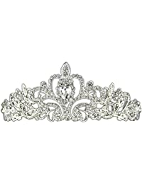 Tiaras Coronas Princesa Cristalina Nupcial Rhinestone Para Fiesta Boda Novia Pelo Accesorio