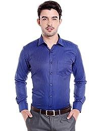 Donear NXG Mens Formal Shirt_SHIRT-1381-BLUE