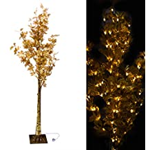 Rosymoment EL-30784 Decoration LED Light Tree, Gold, W 20.0 x H 20.0 x D 162.0 cm