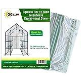 Cobertura de Repuesto Invernadero Jardín 6 Niveles 12 Estantes 143L 143P 195H cm
