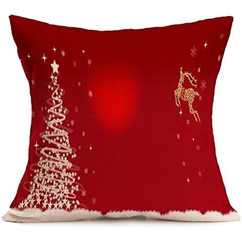 Feliz Navidad !!! Funda de almohada,Longra cómodo y exquisito hogar y la decoración del sofá (G)