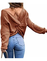Emma Mujer Jersey de Punto Primavera Suéter de Cuello V de Espalda de Las Mujeres Knit del Batwing Oversize Ancho Tejer Sueter