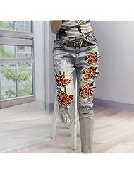 nouveau style brodés broderies stretch jeans