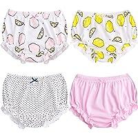 Suave bebé ropa interior para niños niñas de algodón pantalones de entrenamiento para Pack de 4
