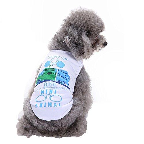 EUZeo Hundeweste Haustier Hund Auto Weste Hundekatze Sommerkleidung Haustier Katze Hund Pullover Hundebekleidung Cute Sweatshirt Hundepullover Hundeshirts Lovely Pet Kleidung