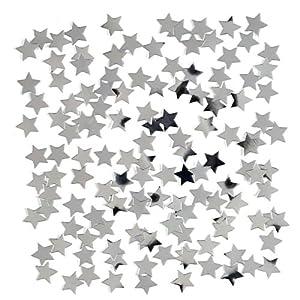 Gifts 4 All Occasions Limited SHATCHI-453 - Confeti de mesa (14 g, con purpurina), diseño de estrellas, color plateado