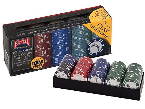Naipes Heracli Fournier S.A- Fiches Chios da Poker di Argilla, Colore Black, Blue, Green, Red, 1006305