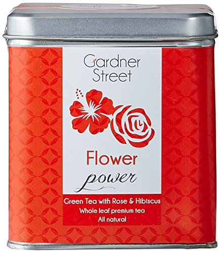 Gardner Street Flower Power: Green Tea with Rose and Hibiscus, 40g