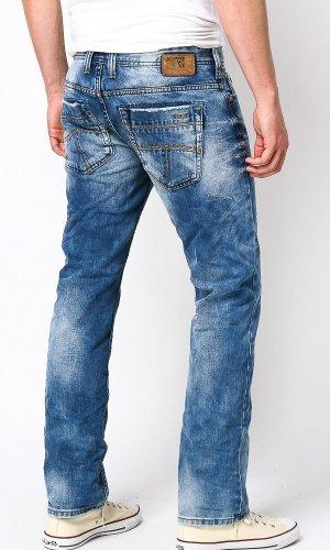 M.O.D Herren Straight Leg Jeans Thomas dark denim