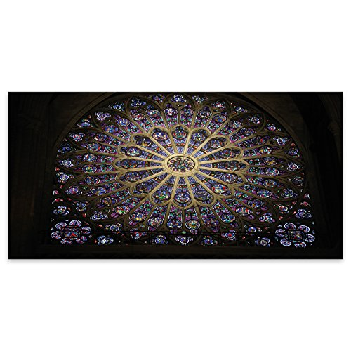 Lila Fenster Kirche Glasmalerei Religion Acrylglas Wand Kunst -120cm x - Lila Glasmalerei