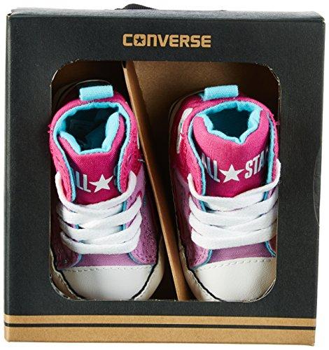 Converse Unisex Baby First Star High Street Krabbel-& Hausschuhe Mehrfarbig (Magenta Glow/Fuchsia Glow/Cyan)