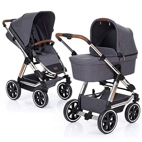 ABC Design Kombi-Kinderwagen Viper 4 - Diamond Edition 2019 | inkl. Babywanne und Buggy-Sitz - Grau