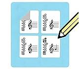 Flöte Griffweise und Mitarbeiter Aufkleber (120praktisch, Aufkleber) für Anfänger und Lehrer.