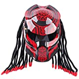 CAXIJUN Cool Predator Motorradhelm, Carbon UV-Schutz Anti-Fog-Maske Fringe Scorpion Integralhelm...