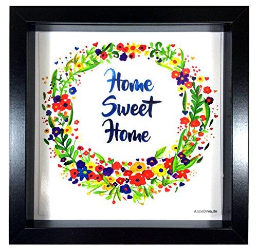 k Poster AnneSvea Türkranz door wreath Einzug Umzug Aquarelle Handmade Deko Zuhause Wohnzimmer Flur (Aquarell Salz)