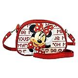 Disney Mickey Et Minnie Borsa Rossa con Cinturino a Tracolla Regolabile e Borsetta Modello, Rosso - 100 g