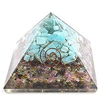 Orgonite Pyramid - Multi Tourmaline + Aquamarine with Hole inside 3-3.5 inch Chakra & Reiki Healing Aura Cleansing... preisvergleich bei billige-tabletten.eu