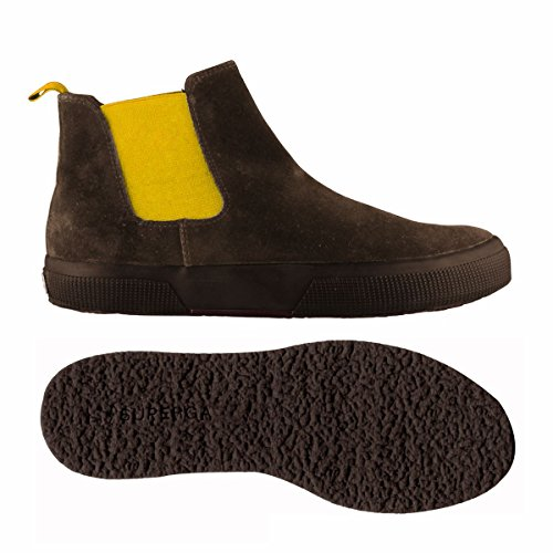 Stivaletti - 2318-sueu DKCHOCOLATE-YELLOW