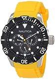 Nautica N13644G - Orologio da polso unisex, cinturino in silicone colore giallo