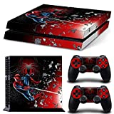 46 North Design PS4 Vinyl Decal Autocollant Skin Sticker SuperHero Pour Playstation 4 console + 2 Dualshock Manette Set Autocollant