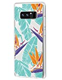Hülle Case für Samsung Galaxy Note 8, Pflanze Design Flexibel Ultra Dünn Durchsichtige Schutzhülle Silikon TPU Handyhülle Kratzfest Anti-Scratch für Samsung Galaxy Note 8 (4)