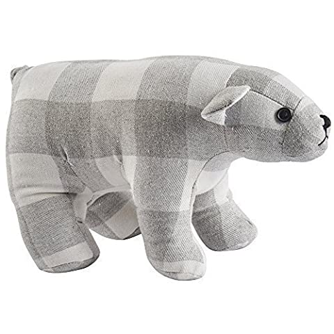 Polar Bear Checked Weighty 1.5kg Doorstop