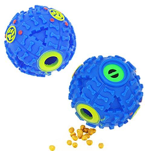 FineInno Quietschen Futterball Blau Hundespielball Hund… | 00611165761448