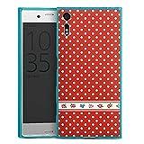 DeinDesign Sony Xperia XZ Slim Case transparent hellblau Silikon Hülle Schutzhülle Dots Tapete Wallpaper