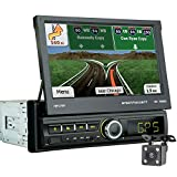 leegoal Autoradio 2 DIN Android, 7 Pollici HD Touch Screen Car Navigation Stereo con Doppio Mirror Link Supporto Radio AM/FM/RDS/USB/AUX Telecomando