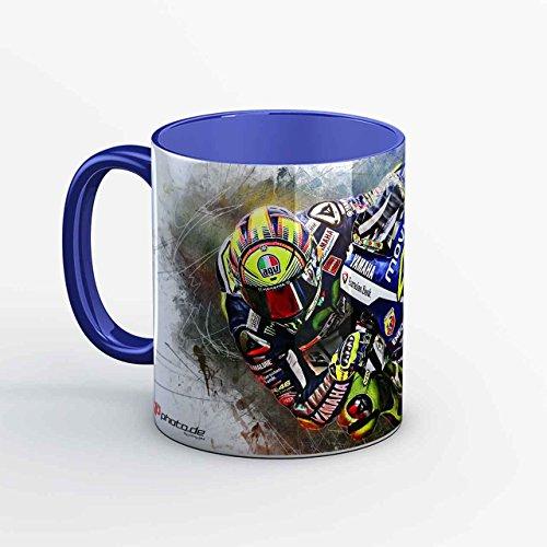 GP-Tasse 02 – Valentino Rossi Barcelona Hang Off (Blau)