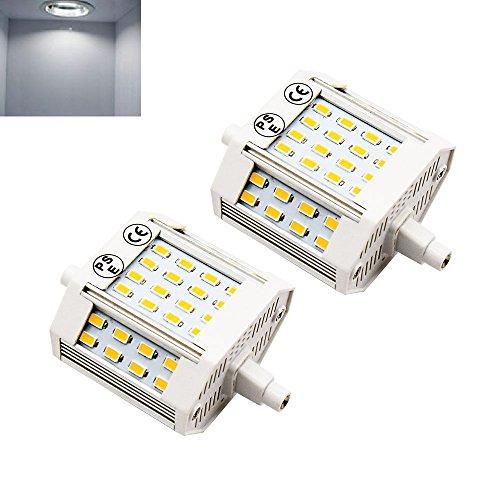 Lustaled R7s LED Lampe 78mm Kaltweiß 6000K 1100 Lumen 220V J78 R7s led Lampe Ersatz für 100W Halogen-Birne (2-Stück nicht dimmbar) (Glühlampen Watt Glühlampen 100 2)