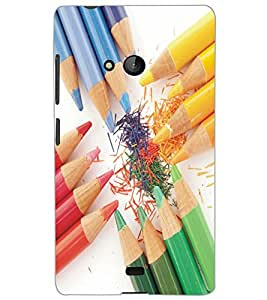 MICROSOFT LUMIA 540 DUAL PENCILS Back Cover by PRINTSWAG