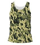 Snoogg Camo Green Military 2764 Mens Cas...