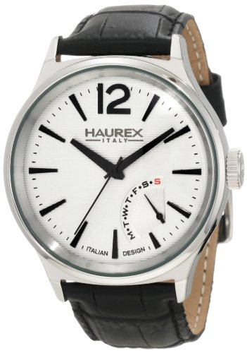 Haurex Italy 6A341US1 Mens Elegant Grand Class Silver Dial Watch