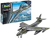 Revell Modellbausatz 03908 British Legends: Hawker Hunter FGA.9, Flugzeug-Bausatz im Maßstab 1:72, Düsenjet zum Zusammenbauen, Level 4, originalgetreue Nachbildung mit vielen Details, Jubiläumsauflage der Royal Air Force (RAF)