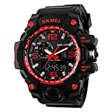 Fenkoo Herren Armbanduhr Japanischer Quartz LCD / Kalender / Chronograph / Wasserdicht / Duale Zeitzonen / Alarm / leuchtend / Stopuhr Caucho